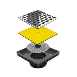PSC Pro Shower Riser and Grate Cover Kit