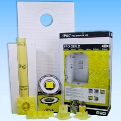 PSC Pro GEN II 32x60 Offset Drain Tile Shower Kit - NO DRAIN