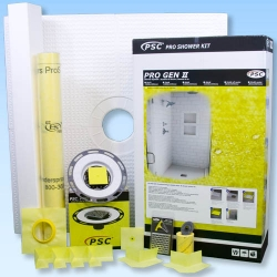 PSC Pro GEN II 72x72 Custom Tile Waterproofing Shower Kit - NO DRAIN