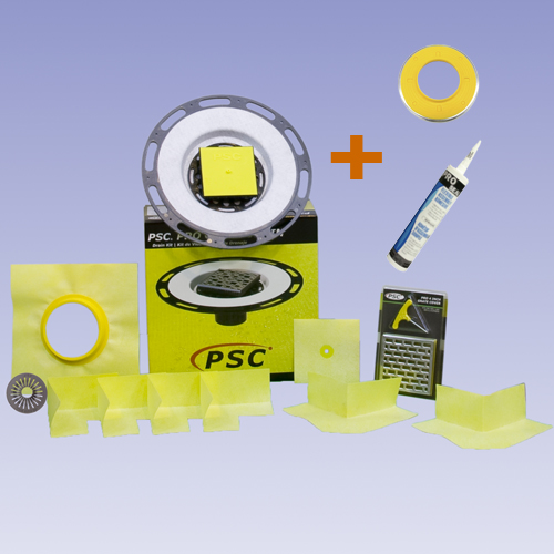 PSC Pro GEN II Tiled Shower Flange with Clamping Flange Adapter Seal by Pro-Source Center