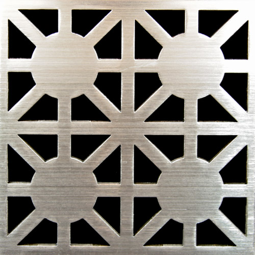 PSC Pro Stainless Steel Drain Grate Cover - Asterix Design by Pro-Source Center