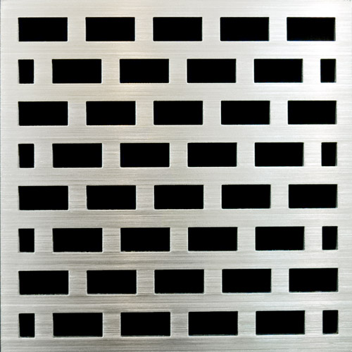 PSC Pro Stainless Steel Drain Grate Cover - Brick Design by Pro-Source Center