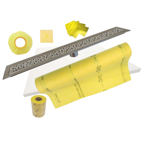 PSC Stainless Steel 26 to 48 Inch Linear Trench Drain Shower Kits by Pro-Source Center