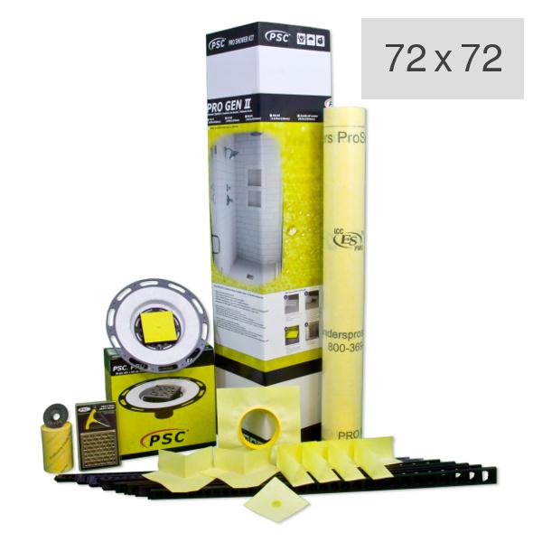 PSC Pro Gen II 72 x 72 Custom Tile Mud Kit - Center or Offset Drain by Pro-Source Center
