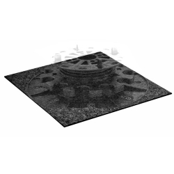 PSC Arkimede Raised Floor System Noise Reduction Base Rubber Pad